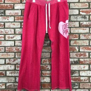 Pink Victoria Secrets sleepwear pants L